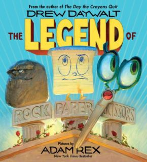 Review: The Legend of Rock, Paper, Scissors, written by Drew Daywalt and illustrated by Adam Rex