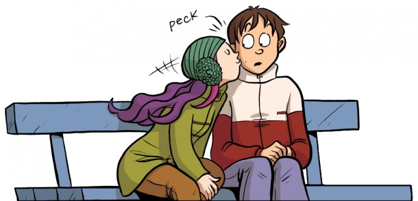 Drama-peck-on-the-cheek